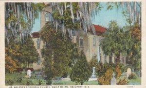 South Carolina Beaufort Sainte Helenas Episcopal Church Built in 1712