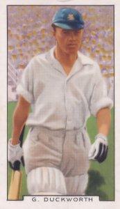 George Duckworth Lancashire Cricket English International 1930s Cigarette Card