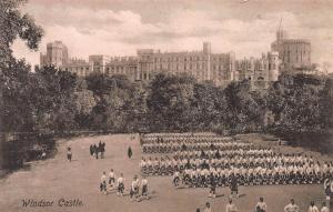 Windsor Castle, Windsor, England, early sepia postcard, unused
