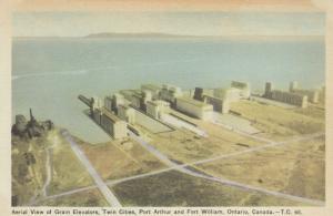 Port Arthur & Fort William , Ontario , Canada , 1930s ; Grain Elevators