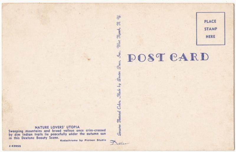 Nature Lovers' Utopia, unused Postcard