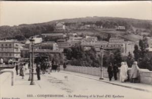 Algeria Constantine Le Baubourg et le Pont d'El Kantara Real Photo