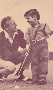 PGA Golfer Arnold Palmer & crippled child, March of Dimes , 1950s
