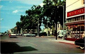 Ocala, Florida - Magnolia Street Court House Confederate Monument cars POSTCARD