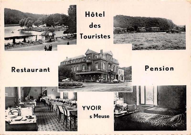Yvoir s/Meuse Hotel des Touristes Restaurant Pension multiviews 1954