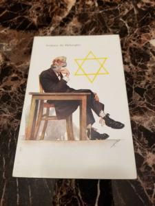 1938 Germany Mint Postcard Eternal Jew Museum Exhibit Philosophy Professor