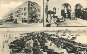 1940s Gilbert Hotel Daytona Beach Florida Whitman's Phototypes autos 12197