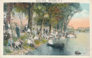 Crowd along Genesee River - South Park, Rochester, New York - WB