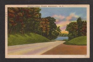 NY Greetings from MONROE NEW YORK Postcard PC