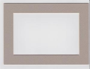 Custom Cut Postcard Mat Fits 5x7 Frame LIGHT GREY