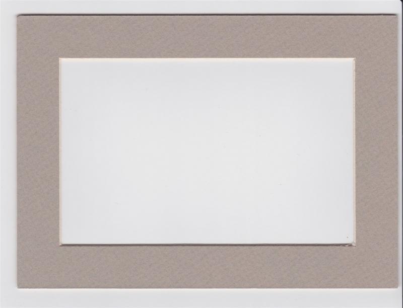 Custom Cut Postcard Mat Fits 5x7 Frame LIGHT GREY