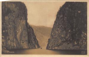 Norway Suldalsporten Lake Mountains Landscape Postcard