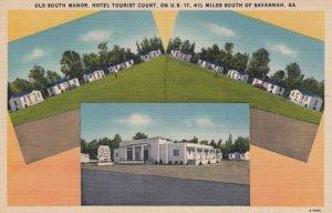 SAVANNAH , Georgia , 1930-40s ; Old South Manor , Hotel Tourist Court