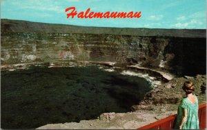 Hawaii Halemaumau Firepit Kilauea Volcano National Park CHROME POSTCARD