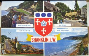 England Shanklin Isle of Wight Old Village Slipway Keats Green and Walk - posted