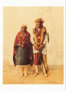 Jose Jesus and Wife Natives in 1899 Native American Modern Postcard
