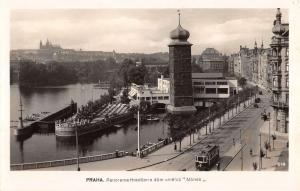 Praha Czech Republic Prague ? Panorama Of Harbor Real Photo Antique PC K23558