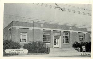 Gloucester City New Jersey~U.S Post Office~1940s Postcard