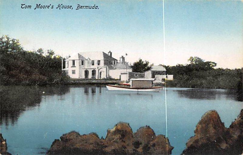 Bermuda Post card Old Vintage Antique Postcard Tom Moore's House Unused
