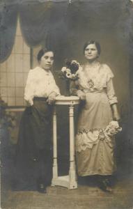 Vintage photo postcard women portrait