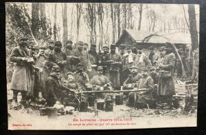 Mint France Real Picture Postcard WWI Soldiers Eating Soup Minus 10 Degrees
