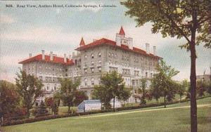 Colorado Colorado Springs Rear View Antlers Hotel