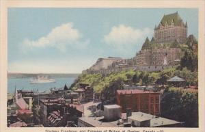 Chateau Frontenac and Empress of Britain at Quebec, Canada, 20-30s