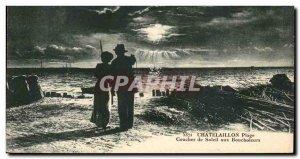 Chatelaillon Old Postcard Sunset at Boucholeurs