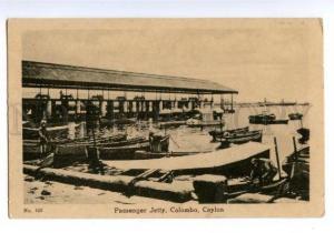 147320 CEYLON COLOMBO Passenger Jetty Vintage postcard