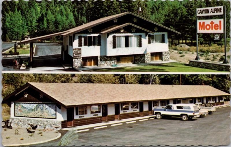 Canyon Alpine Motel Boston Bar BC British Columbia Vintage Postcard D38 *As Is