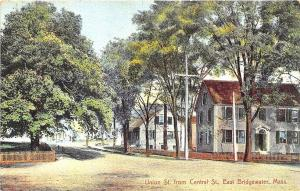 East Bridgewater MA Union Street From Central Street Postcard