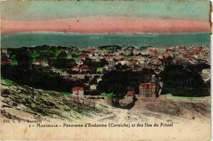 CPA MARSEILLE panorama d'Endoume. Corniche. Et des Iles du Frioul (404911)