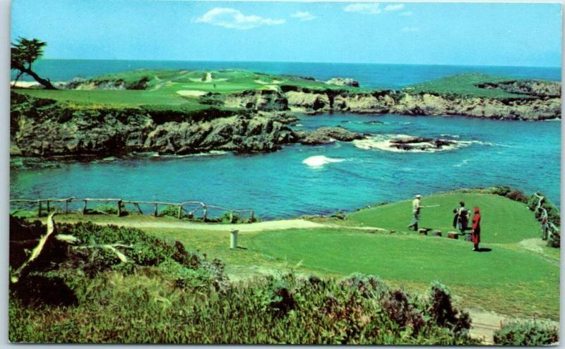 Pebble Beach California Postcard Famous 16th Hole at CYPRESS POINT GOLF COURSE
