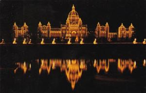 Canada Victoria Parliament Buildings At Night