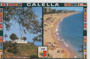 Postal 07691 : Calleta vista de la playa y Faro
