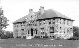 Waterville ME Colby College Chemical Hall #438 RPPC Real Photo Postcard