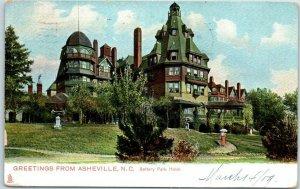 1909 Asheville, North Carolina Postcard Battery Park Hotel TUCK'S Series 2077
