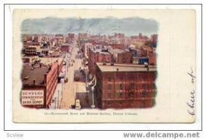 Seventeenth Street, Business Sect., Denver, CO, 1908