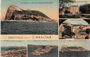 Gibraltar Rock of Gibraltar from Spanish Beach, South Port Gates  Rock of Gib...