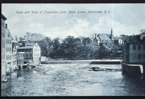 Rhode Island PAWTUCKET River and Dam from Main Street - pm1908 - DB Vintage