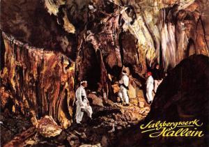 Salzgrube im Salzbergwerk Hallein Duerrnberg Salzburg Hallein Salt Mines Quarry