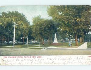 Pre-1907 PARK SCENE Canton New York NY hp9635
