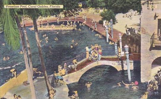 Florida Coral Gables Venetian Pool 1950