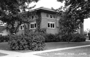 Aurora Nebraska Library Real Photo Antique Postcard K100858