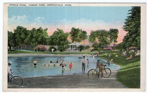 Springfield, Mass, Paddle Pond, Forest Park