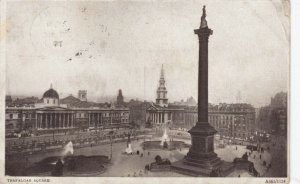 LONDON, England, PU-1914; Bird's Eye View of Trafalgar Square