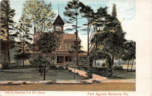 G88/ Sunbury Pennsylvania Postcard c1910 Fort Agusta Building