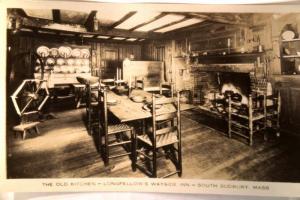 pre1949 rppc LONGFELLOW WAYSIDE INN KITCHEN South Sudbury Massachusetts MA y3605