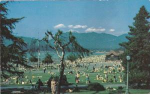 Scenic view,  Kitsilano Beach, Vancouver,  B.C.,  Canada,  40-60s