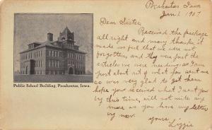 Pocahontas IA Public School~Half Moon Belltower~1907 Lizzie - Iler,Chadwick, IL